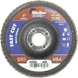 """Weiler 4"""" 80G Flap Disc"""