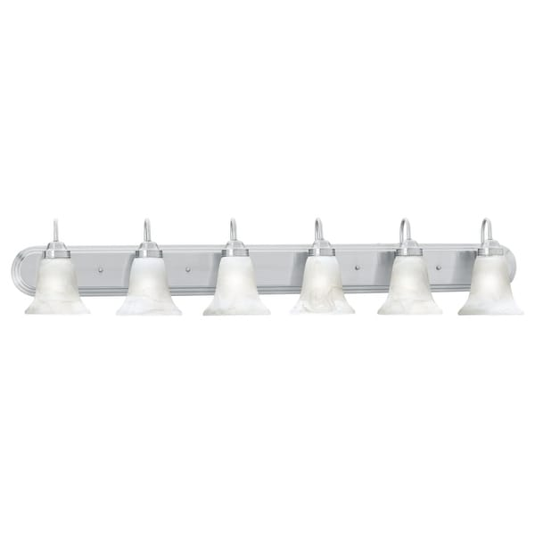 Awe Inspiring Thomas Lighting Sl7586 6 Light 48 Wide Bathroom Fixture From The Homestead Coll Interior Design Ideas Grebswwsoteloinfo