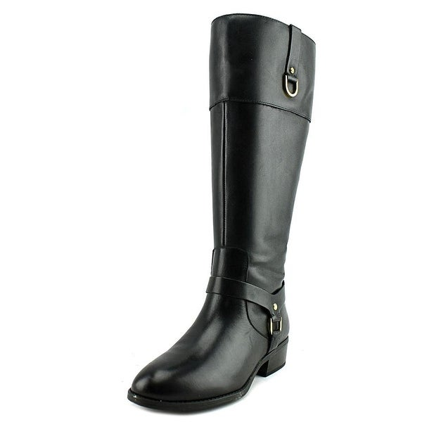 Ralph Lauren Womens mesa Leather Almond Toe Knee High Fashion Boots