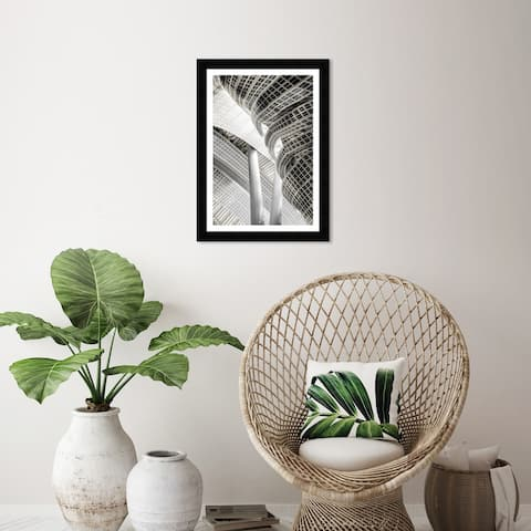 Wynwood Studio 'Architecture I' Architecture and Buildings Gray Wall Art Framed Print