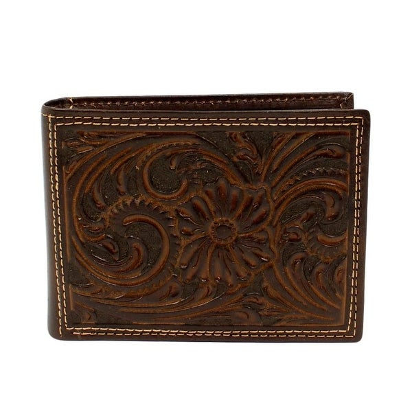 Nocona Western Wallet Mens Bifold Removable Pass Case Brown - One size