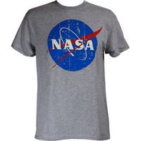 NASA Logo Men's Distressed Grey Shirt