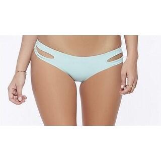 L Space NEW Green Womens Size Small S Haley Cut-Out Bikini Bottom