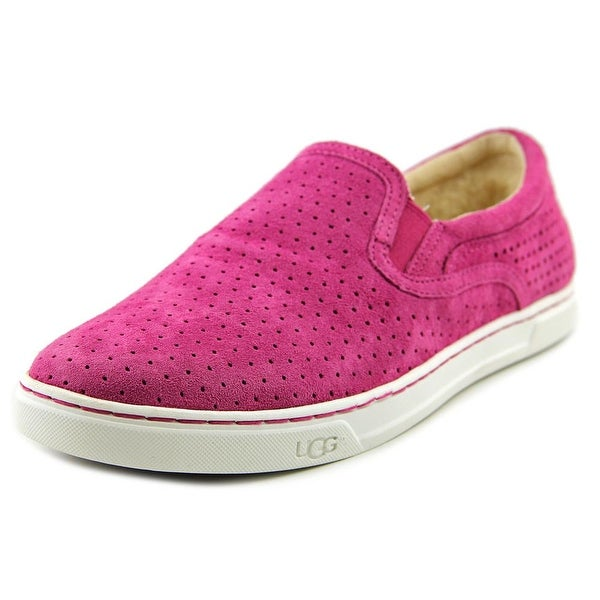 Ugg Australia Fierce Geo Perf Women Round Toe Leather Pink Loafer