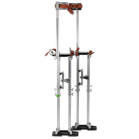 "GypTool Pro 36"" - 48"" Drywall Stilts - Silver - 36 - 48 inches"