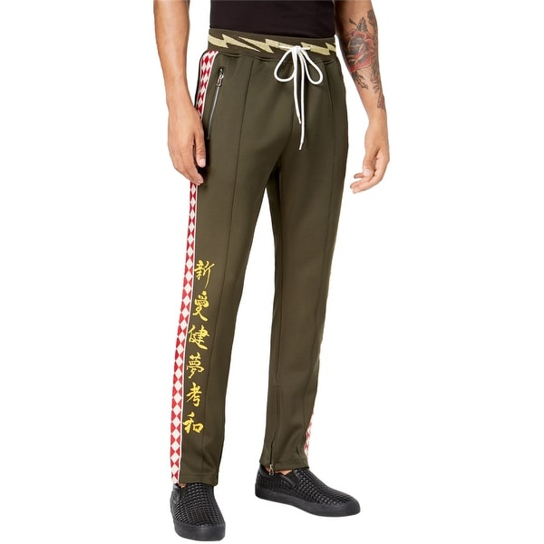 Reason Mens Flying Sharks Athletic Track Pants green L/29. Opens flyout.