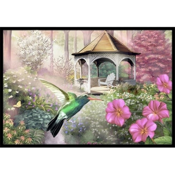 Carolines Treasures PTW2052MAT Garden Gazebo Hummingbird Indoor & Outdoor Mat 18 x 27 in.