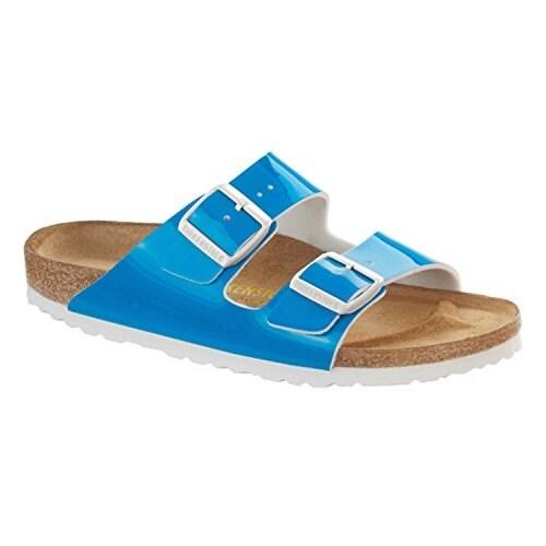 Birkenstock Womens Arizona Neon Blue Birko-Flor Sandal - US Womens 8-8.5 Narrow