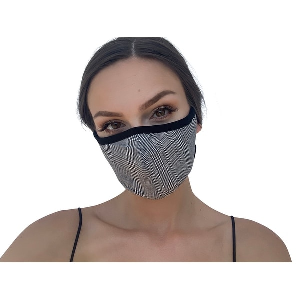 Buffalo Plaid Pattern Reusable Women's Fashion Cloth Face Mask with Adjustable Straps. Opens flyout.