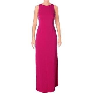 Lauren Ralph Lauren Womens Evening Dress Cutout-Back High-Neck
