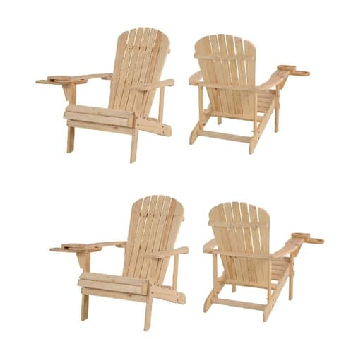 Earth Collection Adirondack Chair with phone and cup holder (Set of 4)