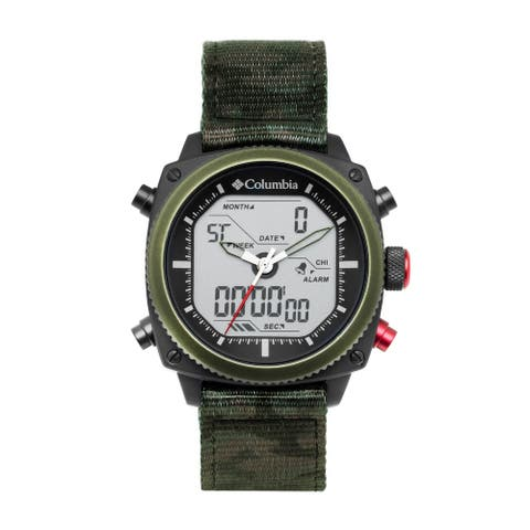 Columbia Ridge Runner Analog-Digital Camo Nylon Watch - Digital