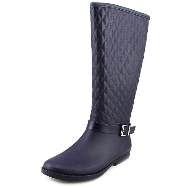 Guess Lulue Women Round Toe Synthetic Blue Rain Boot