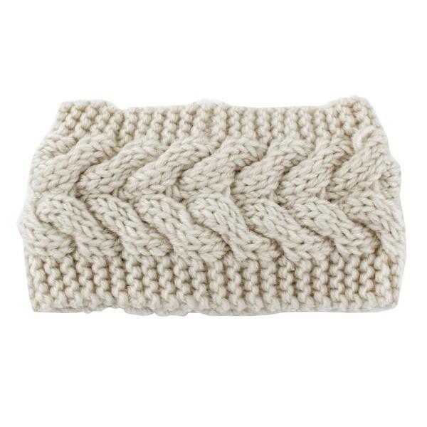 Shop Woman Nylon Twist Braided Knitted Head Wrap Hair Band Sports