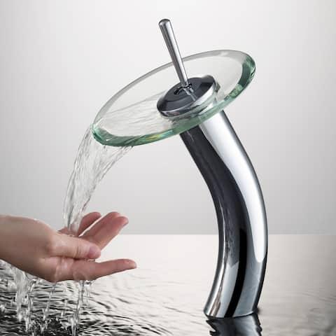 KRAUS Waterfall Vessel Bathroom Faucet Chrome