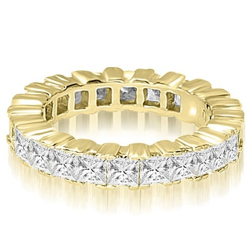 8.00 cttw. 14K Yellow Gold Princess Prong Diamond Eternity Ring