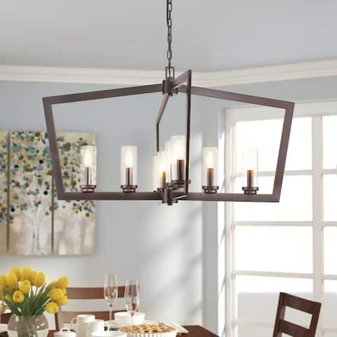 EAPUDUN-Modern Farmhouse Style 8-light Chandelier - in Oil Rubbed Bronze