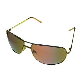Perry Ellis Sunglass PE22 3 Mens Silver / Matt Gold Metal Aviator, Brown Lens