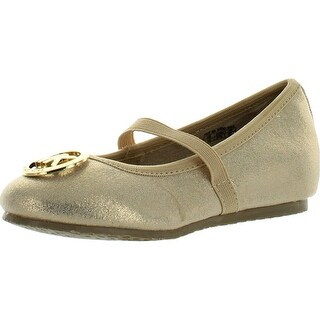 Michael Kors Girls Faye Ria Strap Designer Mk Fashion Flats Shoes