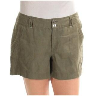 INC $49 Womens New 1518 Green Straight leg Casual Short 12 B+B