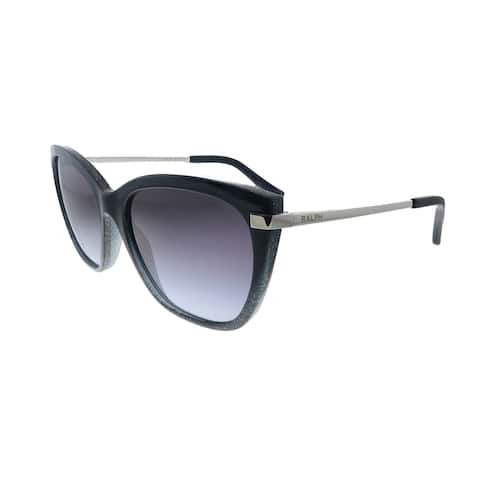Ralph by Ralph Lauren RA 5267 58418G Womens Shiny Gradient Black Glitter Frame Grey Gradient Lens Sunglasses
