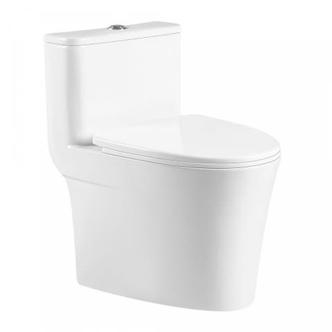 Fine Fixtures Modern One Piece Round Toilet
