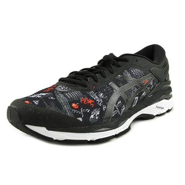 Asics Gel Kayano 24 NYC Men Round Toe Synthetic Black Running Shoe