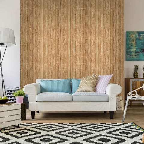 Brown Wood Texture Peel and Stick Removable Wallpaper 7703