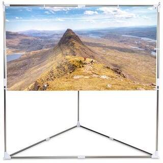 Gymax 80'' 16:9 HD Portable Projector Screen Triangle Stand Home Theater w Carry bag