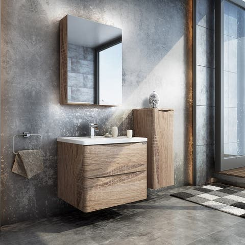 Koozzo Wall-Mounted Single Bathroom Vanity Set
