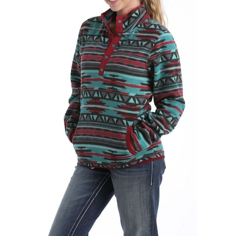 Cinch Western Jacket Womens Fleece Pull Over Multi-Color