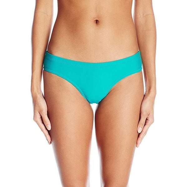 2485eb8fe6d Shop Volcom Women's Simply Solid Cheeky Swimsuit Bikini Bottom, Teal, SZ:  XS - Free Shipping On Orders Over $45 - Overstock - 27069168