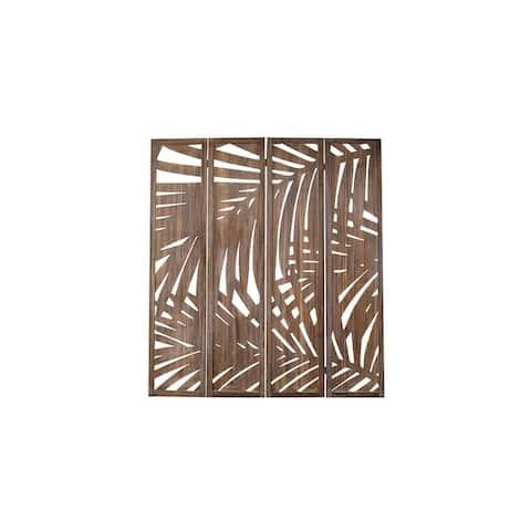 "Proman Products Palm Spring 4-Panel Folding Screen, 60"" W x 67"" H x 1"" D"