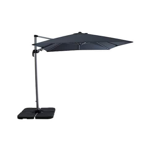 Formosa 8.2' Square Heavy Duty Cantilever Patio Umbrella, Base Included
