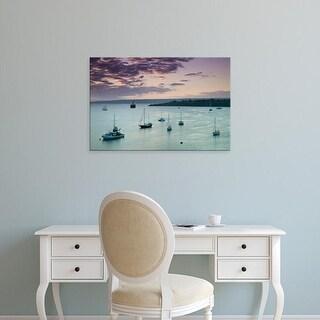 Easy Art Prints Walter Bibikow's 'Vila Bay At Dusk' Premium Canvas Art