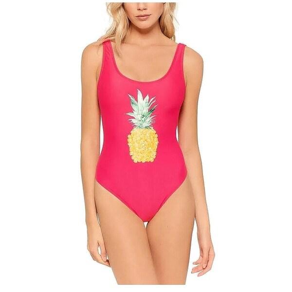 48254d66f700e Ninety Nine Pink Size Small S Junior Pineapple One-Piece Swimwear