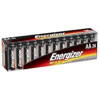 Energizer Max Alkaline AA Battery, Pack of 24