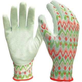 Digz 77840-23 Women's Gardening Gloves, Latex Coated, 3/Pack