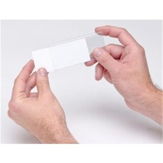 Quantum Storage Clear Label Holders, 1.25 x 3 in. with Inserts