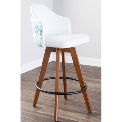 Carson Carrington Valsatra Upholstered Counter Stool with Pattern Accent