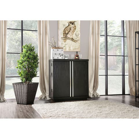 Furniture of America Hima Contemporary Espresso 38-inch Server