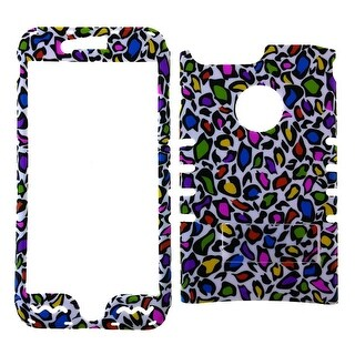 Rocker Snap-On, Colorful Leopard Print on White