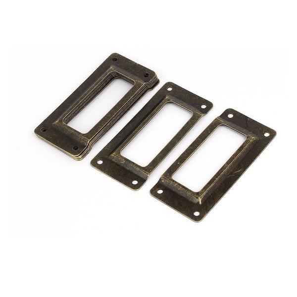 Gift Box Case Card Tag Label Holders Frames Bronze Tone 62mm x 29mm 8PCS