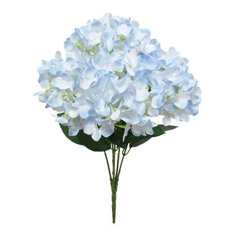 Hydrangea Flower Stems Bush Bouquet 19.5in