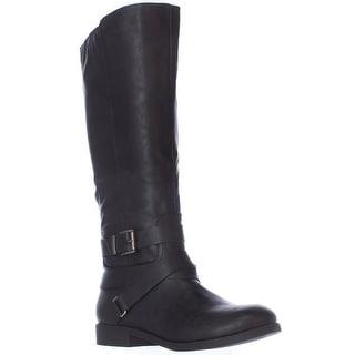 SC35 Lolah Ankle Strap Riding Boots, Black