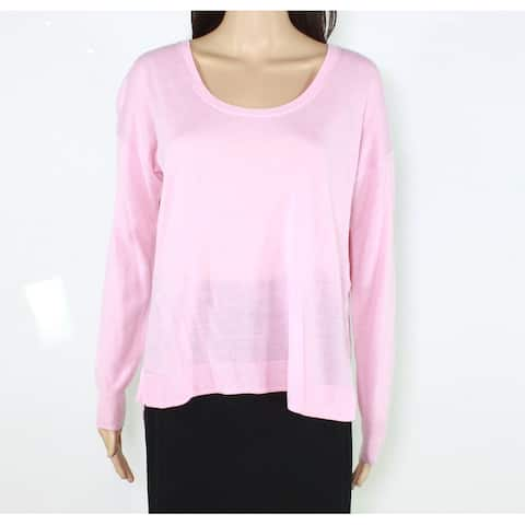 Madewell Women's Pink Size XS Long Sleeve Scoop Neck Wool-Knit Sweater