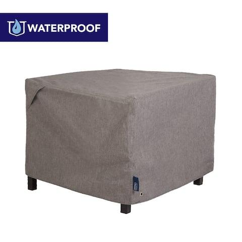 Modern Leisure Garrison Waterproof Patio Firepit Table Cover (42 W x 42 D x 22 H) Heather Gray, Model 3011