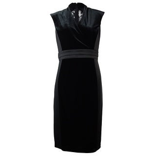 Ellen Tracy Women's Velvet Lace Inset Dress - 10