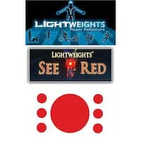 Lightweight Safety See Red Reflective Dots - Red - 7 Pieces - LWCR