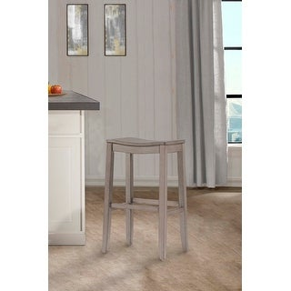 """Link to The Gray Barn Chatterly Non-swivel Aged Grey Backless Bar Stool - 30""""H x 18""""W x 12""""D Similar Items in Dining Room & Bar Furniture"""